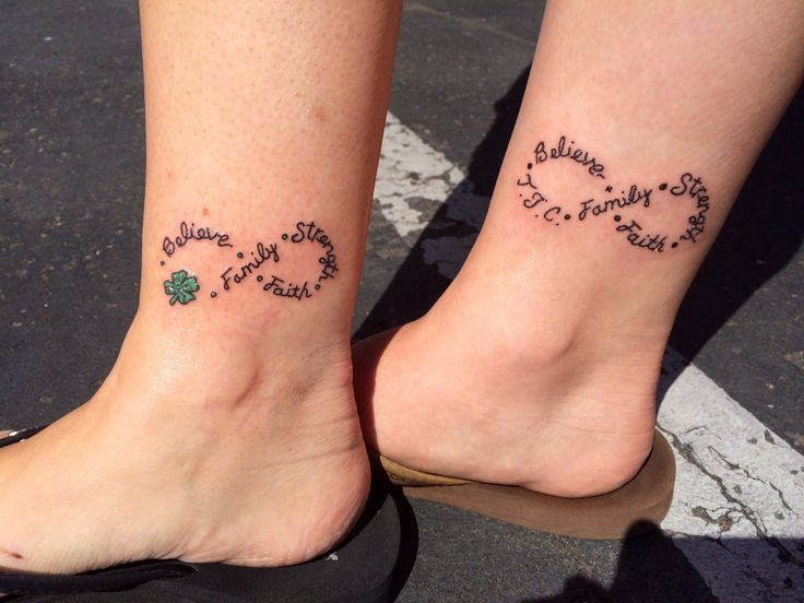 Cute mother daughter infinity tattoos belly laughs for Infinity tattoo mother daughter
