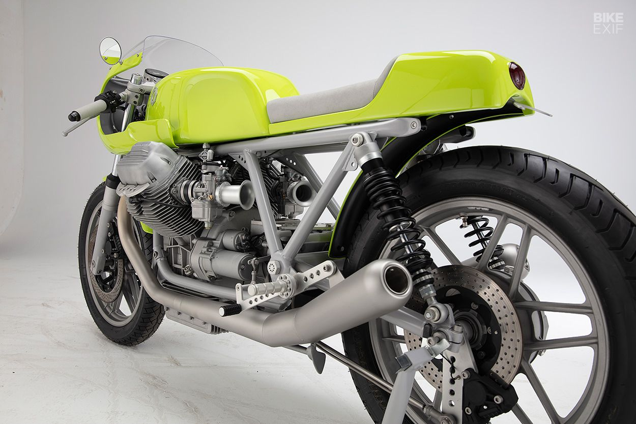 Lean, mean and green A Le Mans from Kaffeemaschine Moto