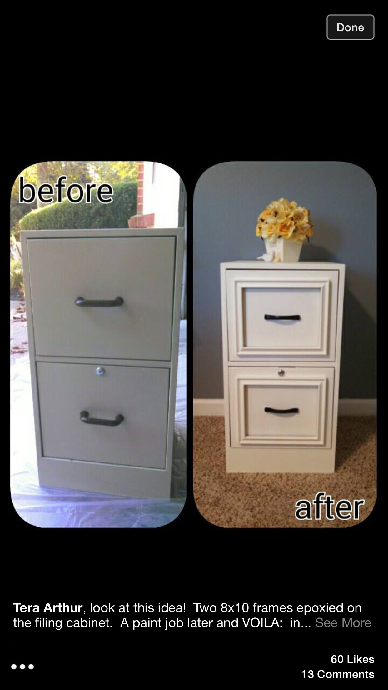 Filing Drawers: Paint and mould