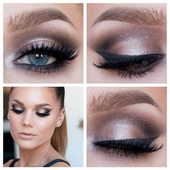 Makijaz Na Wesele Do Niebieskiej Sukienki Szukaj W Google Eyeshadow Makeup Eye Makeup Makeup