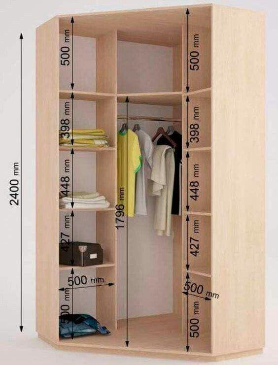 Closets closet pinterest armario esquinero armario - Armario esquinero dormitorio ...