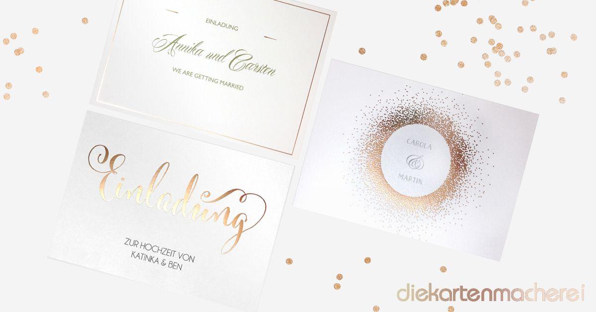 Unsere Neuen Trend Hochzeitseinladungen Hochzeit Rosegold