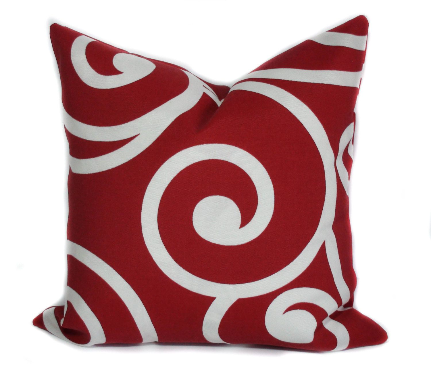 red outdoor pillow cover 16x16 holiday pillow christmas pillow outdoor throw pillows - Christmas Outdoor Pillows