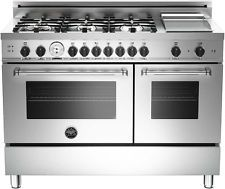 "Bertazzoni 48"" Master Series MAS486GGASXT Professional Range Gas / LP Stainless"