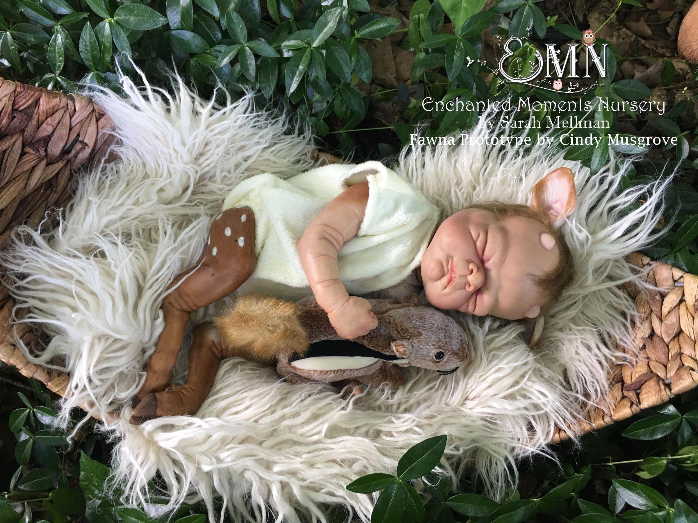 Fawna pre-verniciato Reborn Kit By Cindy Musgrove