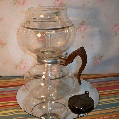 Vacuum Coffee Maker Glass Filter : Vintage Cory DRU Glass Vacuum Coffee Pot with Glass Filter Rod - Needs 2 Parts, Bid at USD 10 ...