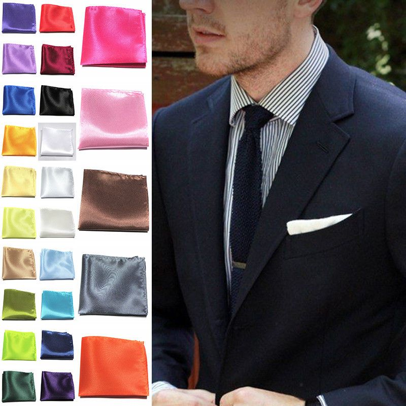 Fashion Formal Suit Pocket Square Handkerchief Men Wedding Dress Paisley Hanky