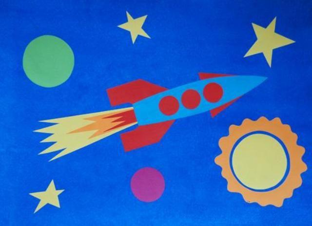Шаблоны аппликации на тему космос Занятия с малышами