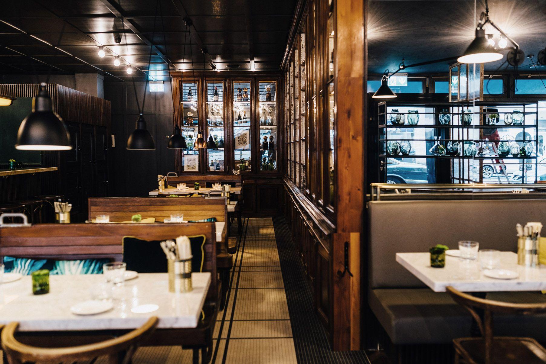 tertianum - restaurant - brasserie - timber - panelling - mirrored