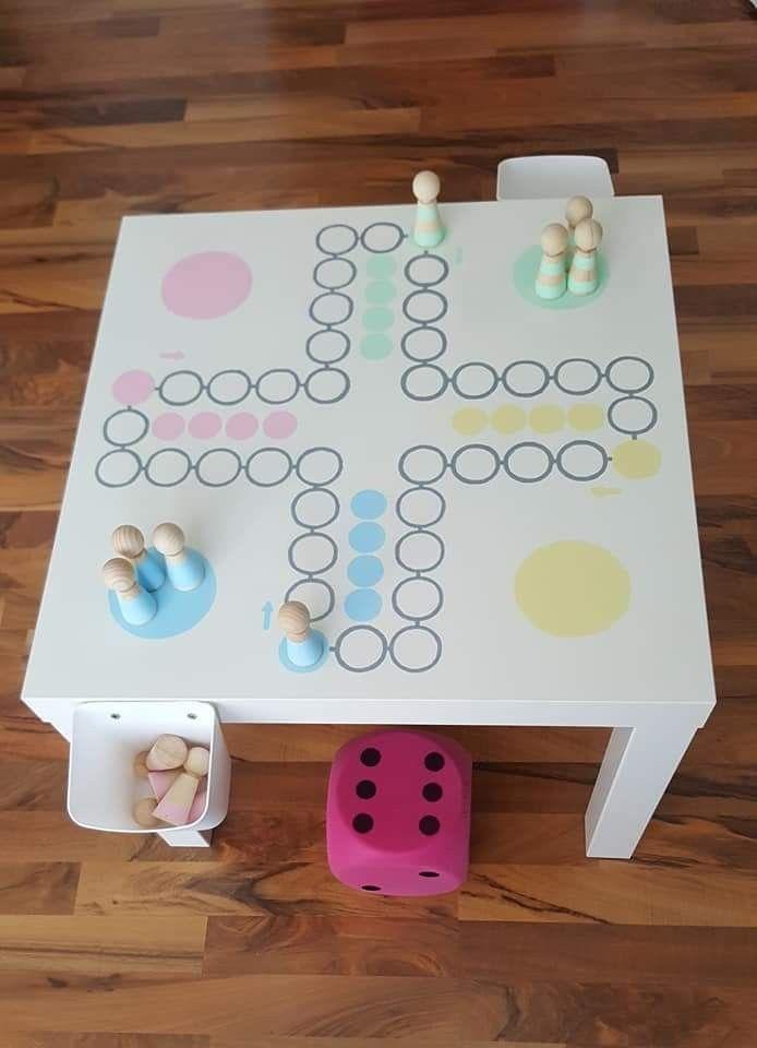 Mensch Argere Dich Nicht Diy Aus Ikea Tisch Ikea Tisch Kinderspielzimmer Ideen Zum Selbermachen Fur Kinder