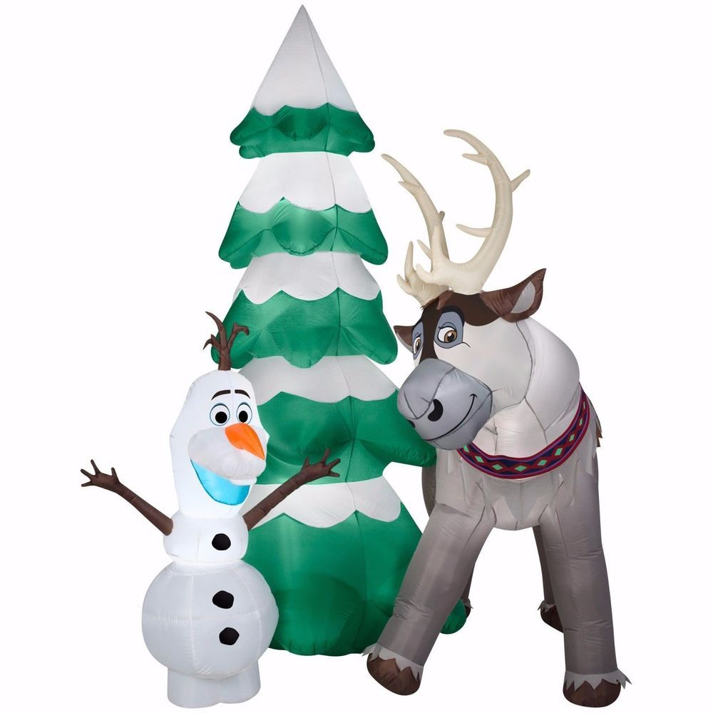 Gemmy inflatable airblown reindeer outdoor christmas decoration lowe - Details About Frozen Olaf And Sven Christmas Airblown Inflatable Gemmy Gigantic 9 5 Feet Tall