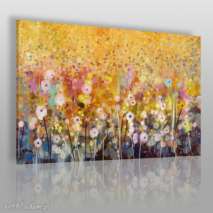Obraz Płótnie Ogród Kwiaty Abstrakcja 120x80 62101 Obrazy Vaku Art