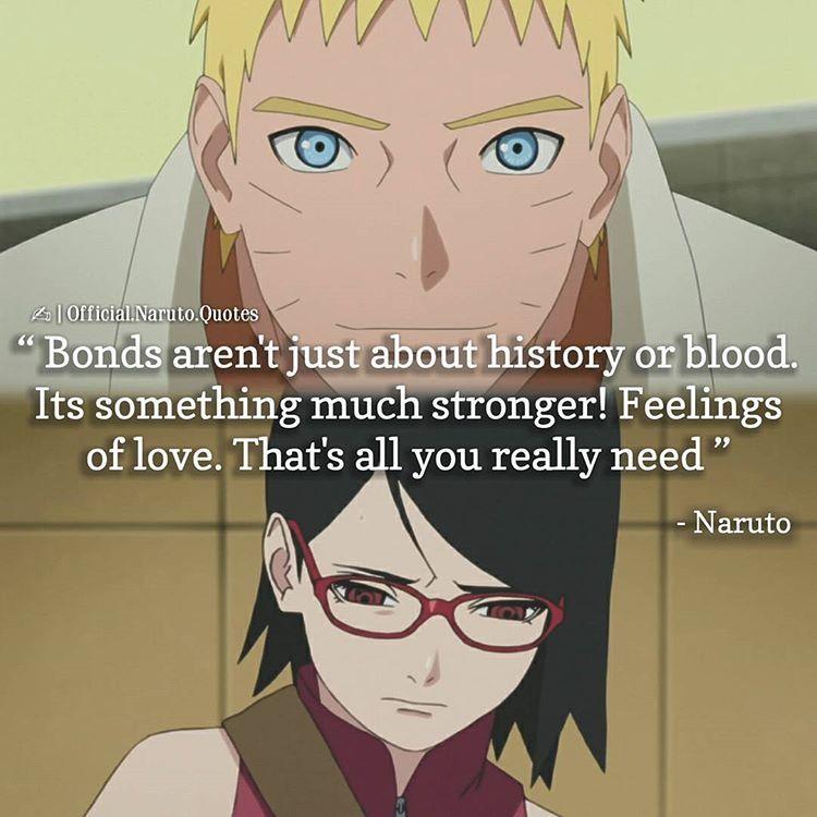 E Algo Muito Mais Forte Sentimentos De Amor E Tudo O Que Voce Realmente Precisa Naruto Quotes Naruto Facts Naruto