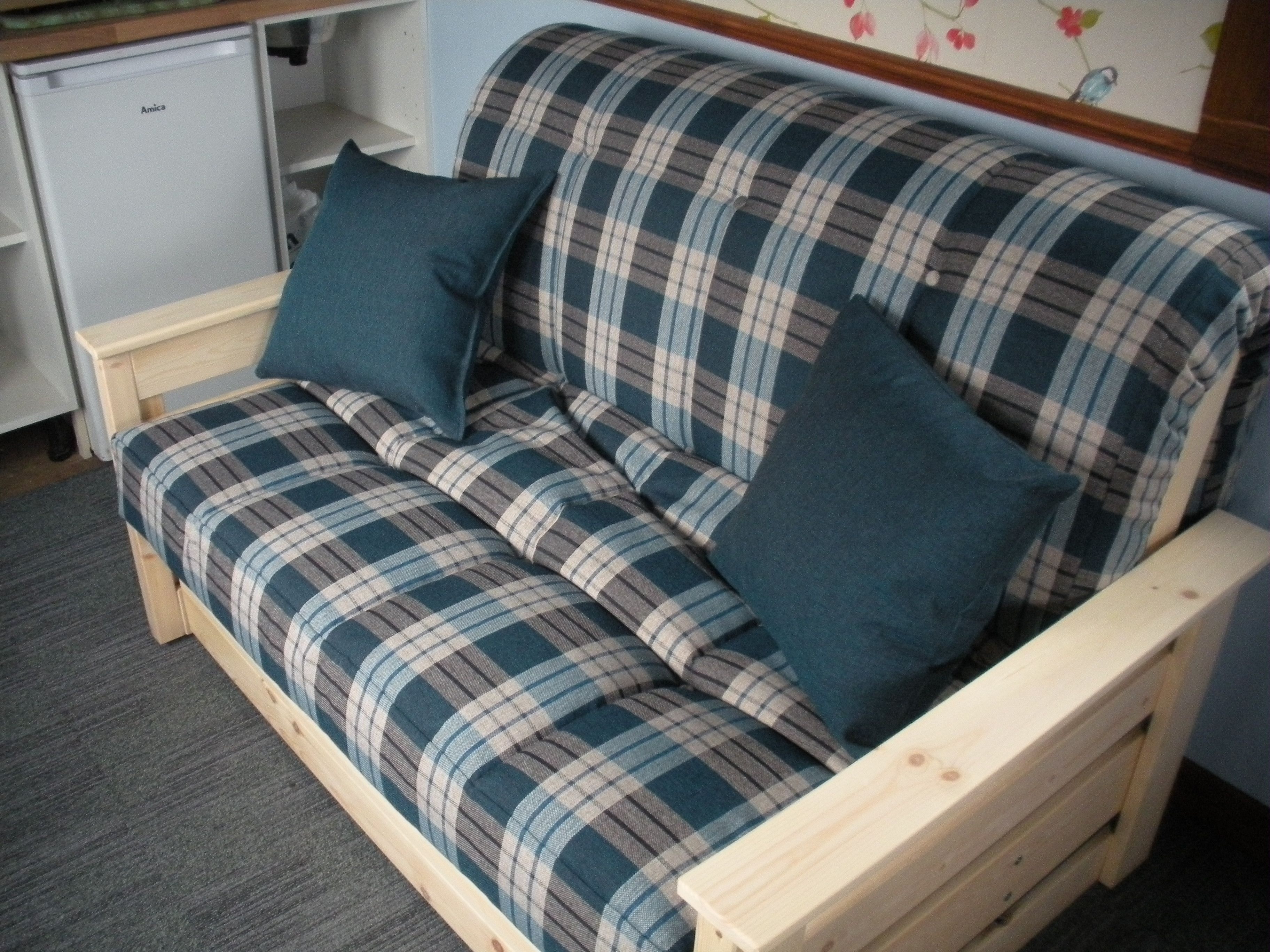 Best Aylesbury 120Cm Futon Sofa Bed Delivered Into A Small 400 x 300