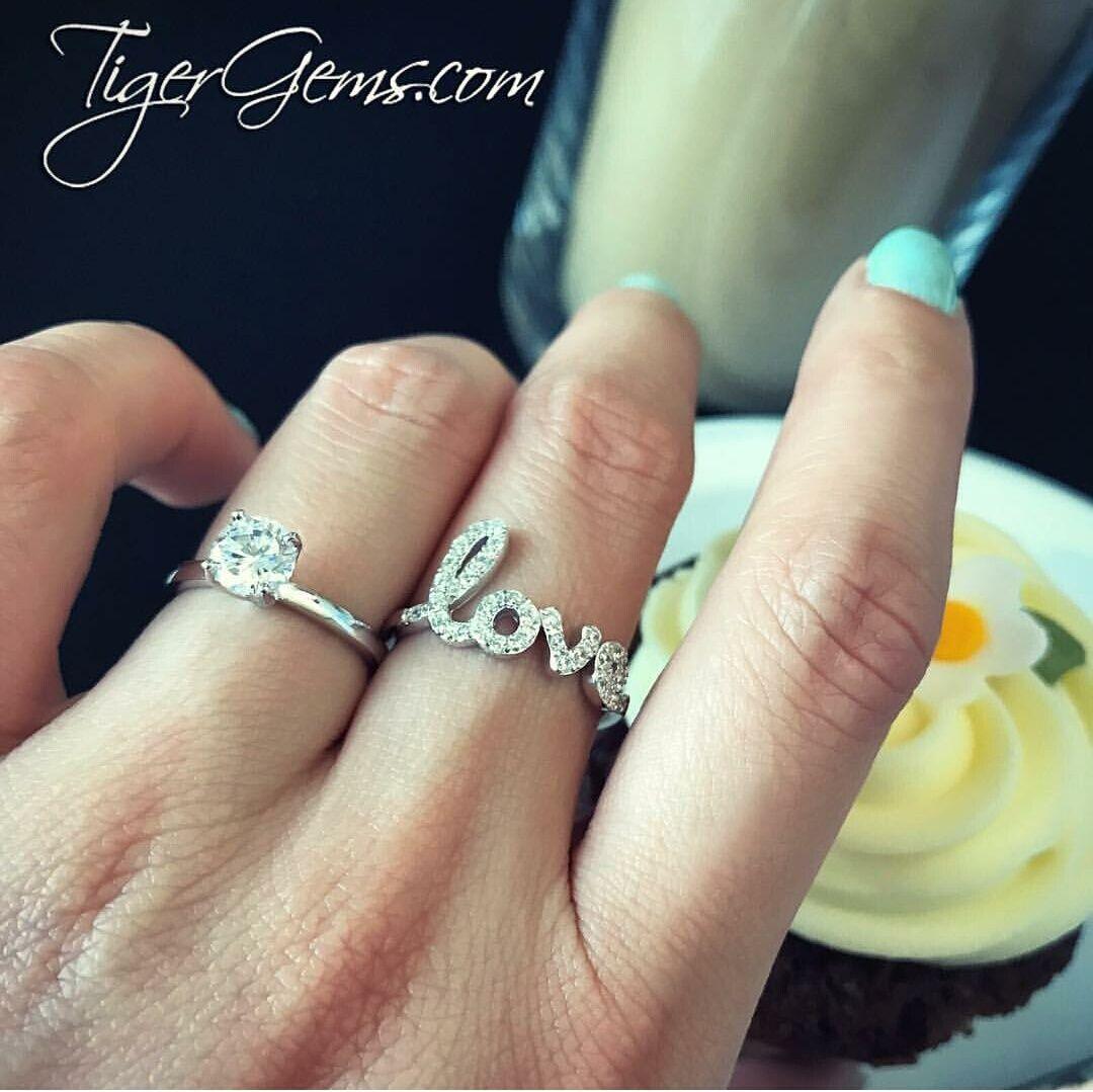 ctw love cursive ring ctw love cursive ring pinterest