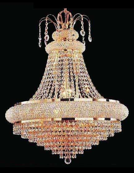 Austrian crystal chandelier with 18 carat gold fittings chandelier austrian crystal chandelier with 18 carat gold fittings aloadofball Image collections