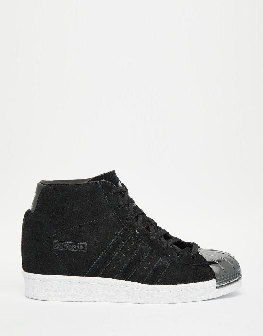 e9baa892825f1 Image 2 of adidas Originals Black Suede Superstar Up Metal Toe Cap Sneakers