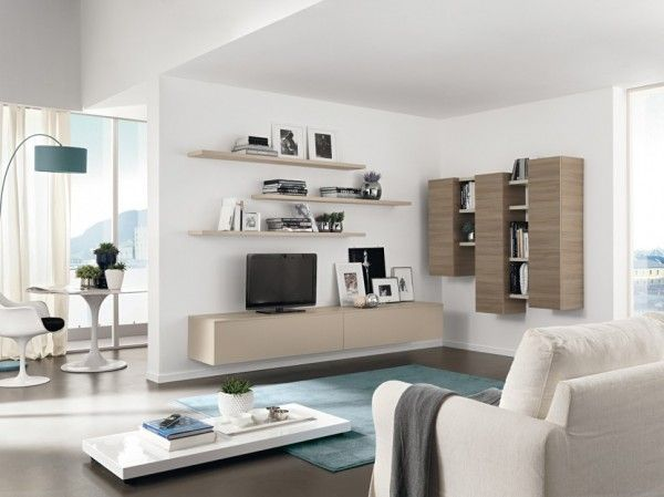 living room:modern living room: amazing wall unit storage