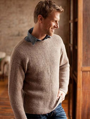 Ravelry Boat Neck Faux Rib Pullover Pattern By Bruce Weinstein