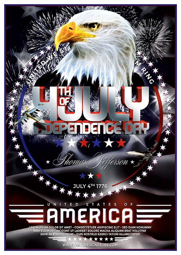 Independence Day Flyer Template   Flyer Template Templates And
