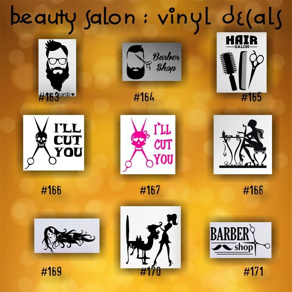 BEAUTY SALON Vinyl Decals  Vinyl Stickers Custom Car - Custom vinyl window stickers   for your political campaign