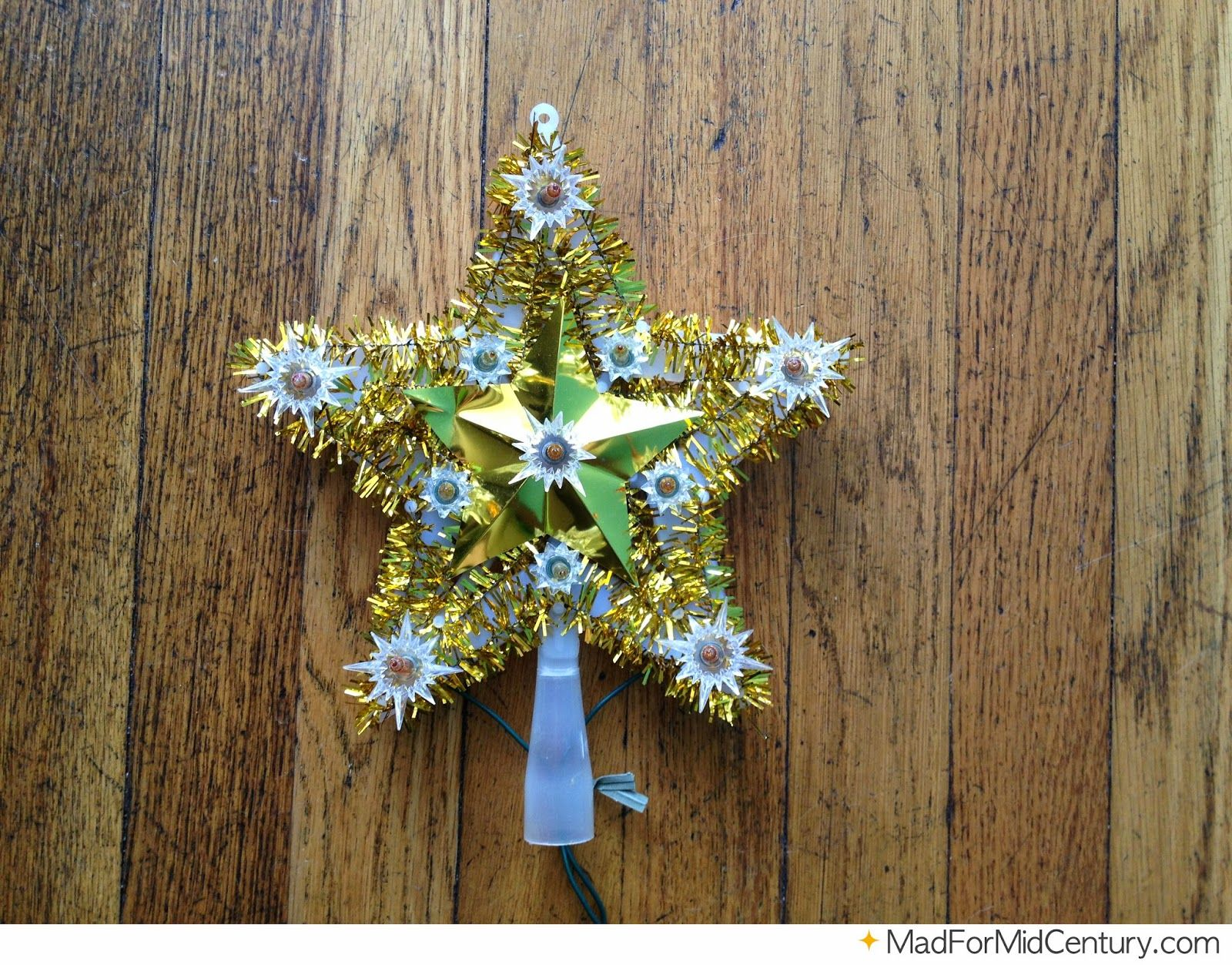 Vintage Light Up Star Tree Topper