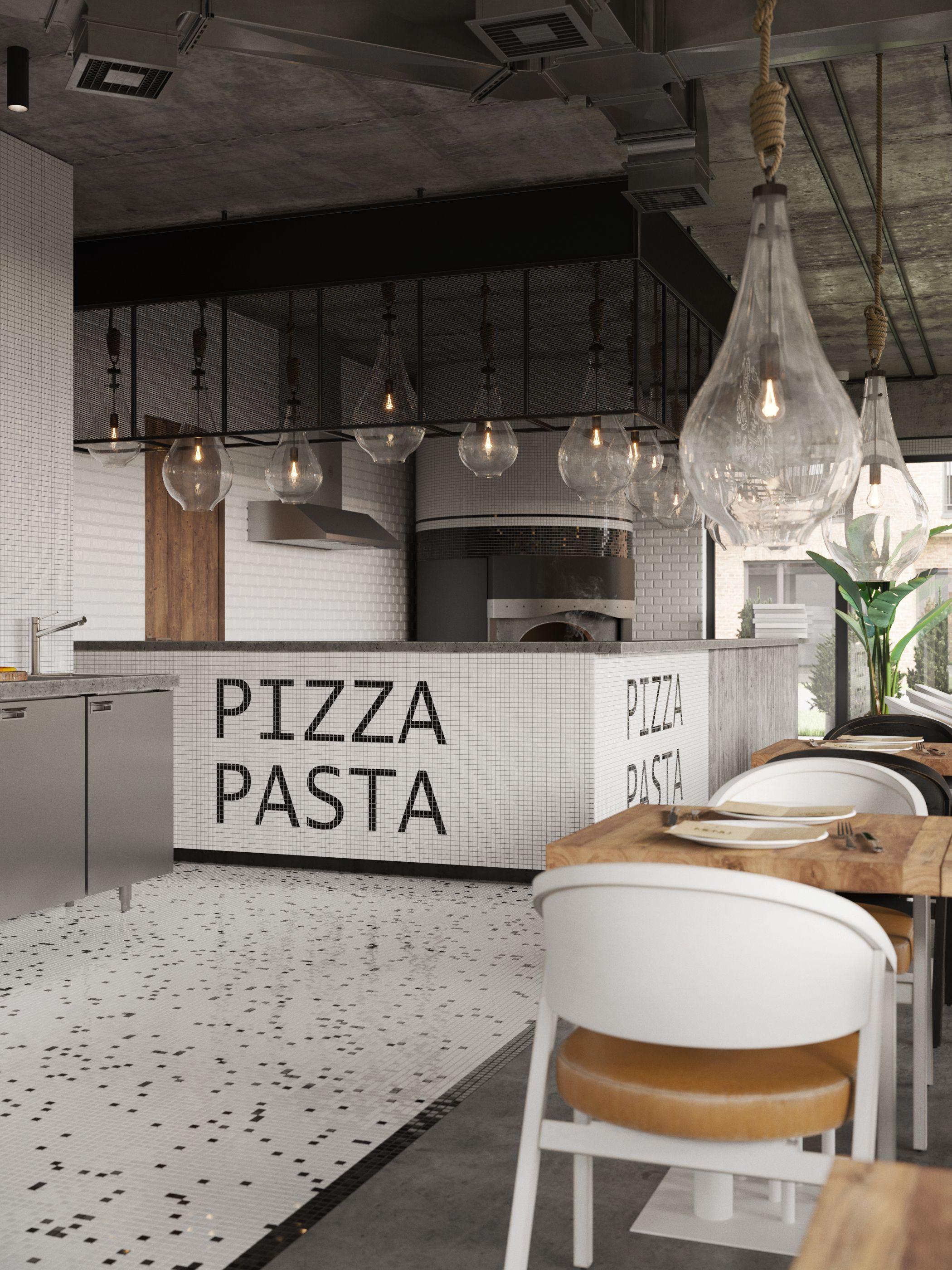 Contemporary Pizza Pasta Restaurant In Almaty Kazakhst On Behance
