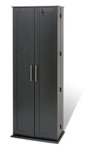 Prepac Grande Locking Media Storage Cabinet With Shaker Doors