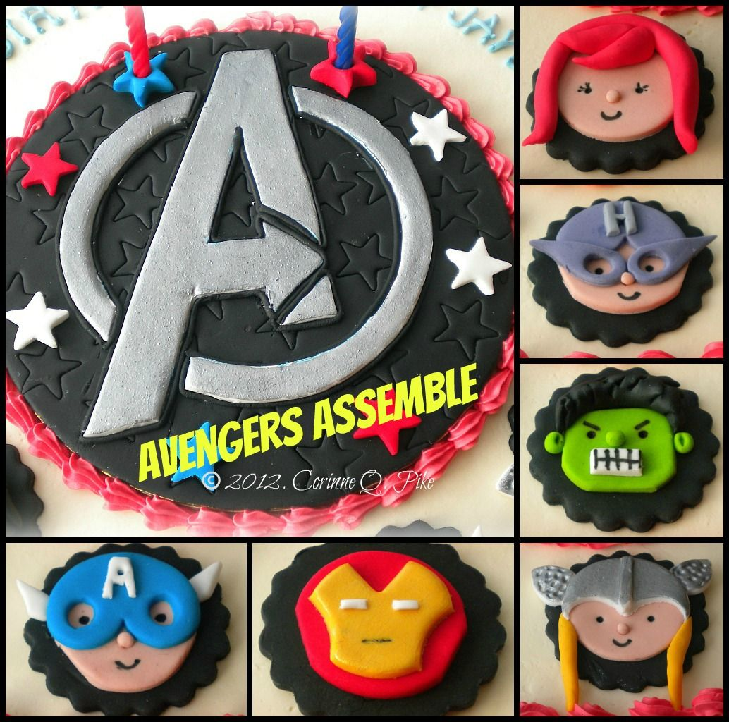 Dont like the individual fondant faces but I love the Avengers