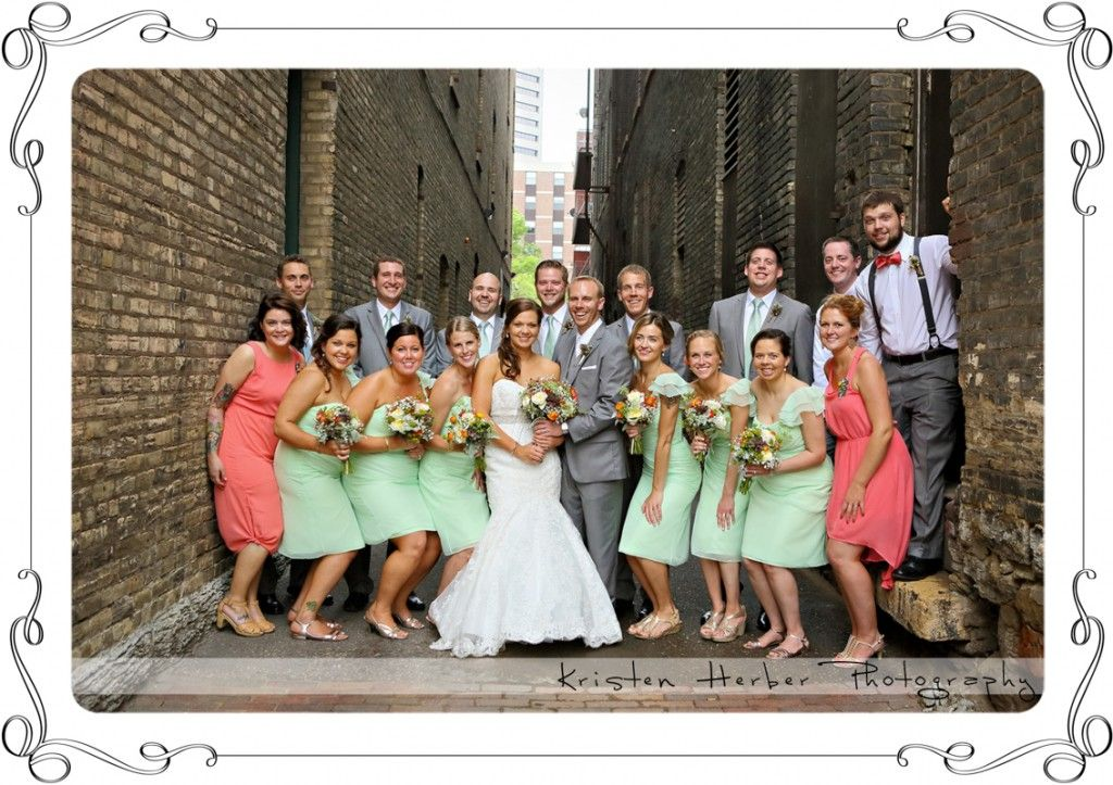Wedding party in lowertown st paul mn