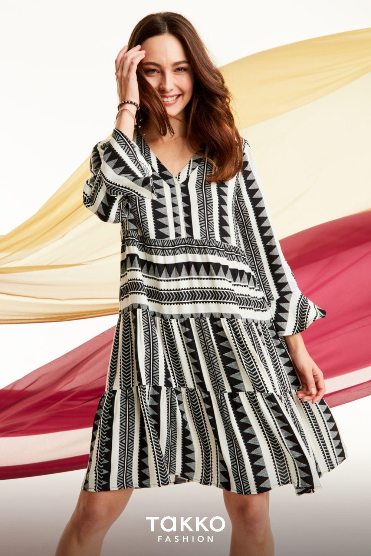 sommerkleider mit muster bei takko fashion | sommer kleider