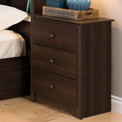 Hayman Tall 3 Drawer Nightstand With Images Modern Furniture