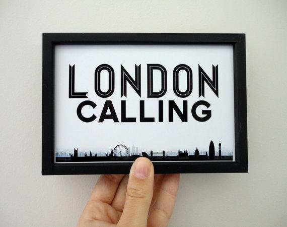 london calling art print london art london poster in 2019 zimmer gestalten pinterest. Black Bedroom Furniture Sets. Home Design Ideas