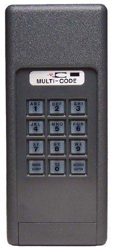 How To Reprogram Garage Door Opener >> Multi Code 4200 Garage Door Opener Keyless Entry 300mhz Building