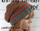 Knitting Pattern, Knit Hat Pattern, Easy Slouchy Beanie Beret,