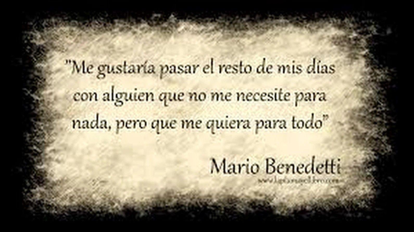Amor Eterno Imagenes Pinterest Mario Benedetti Frases Mario Y