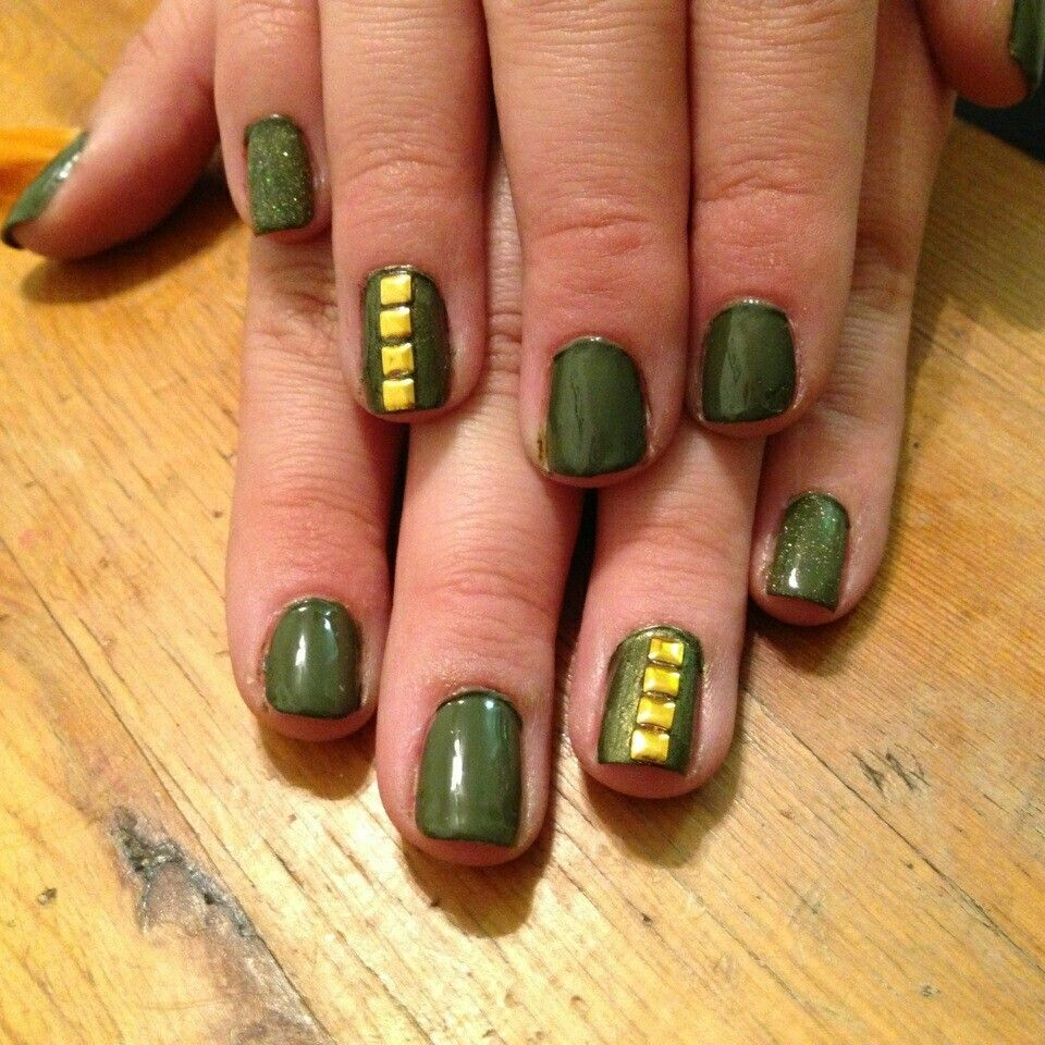 Army Chic! China Glaze Westside Warrior. Accent nail in China Glaze ...