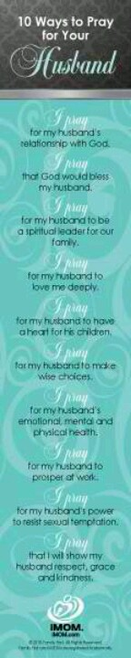 Prayer for the hubby