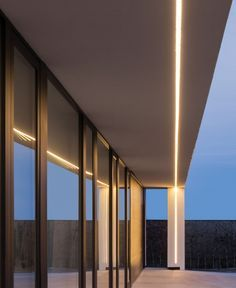 linear recessed fixture exterior with