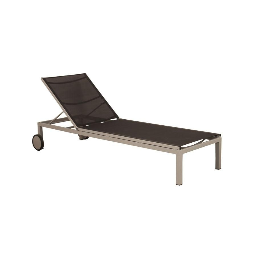 Metro 2 Pewter Chaise Lounge with Black Mesh - High Quality Outdoor and Casual Furniture -  sc 1 st  Pinterest : chaise lounge ottawa - Sectionals, Sofas & Couches