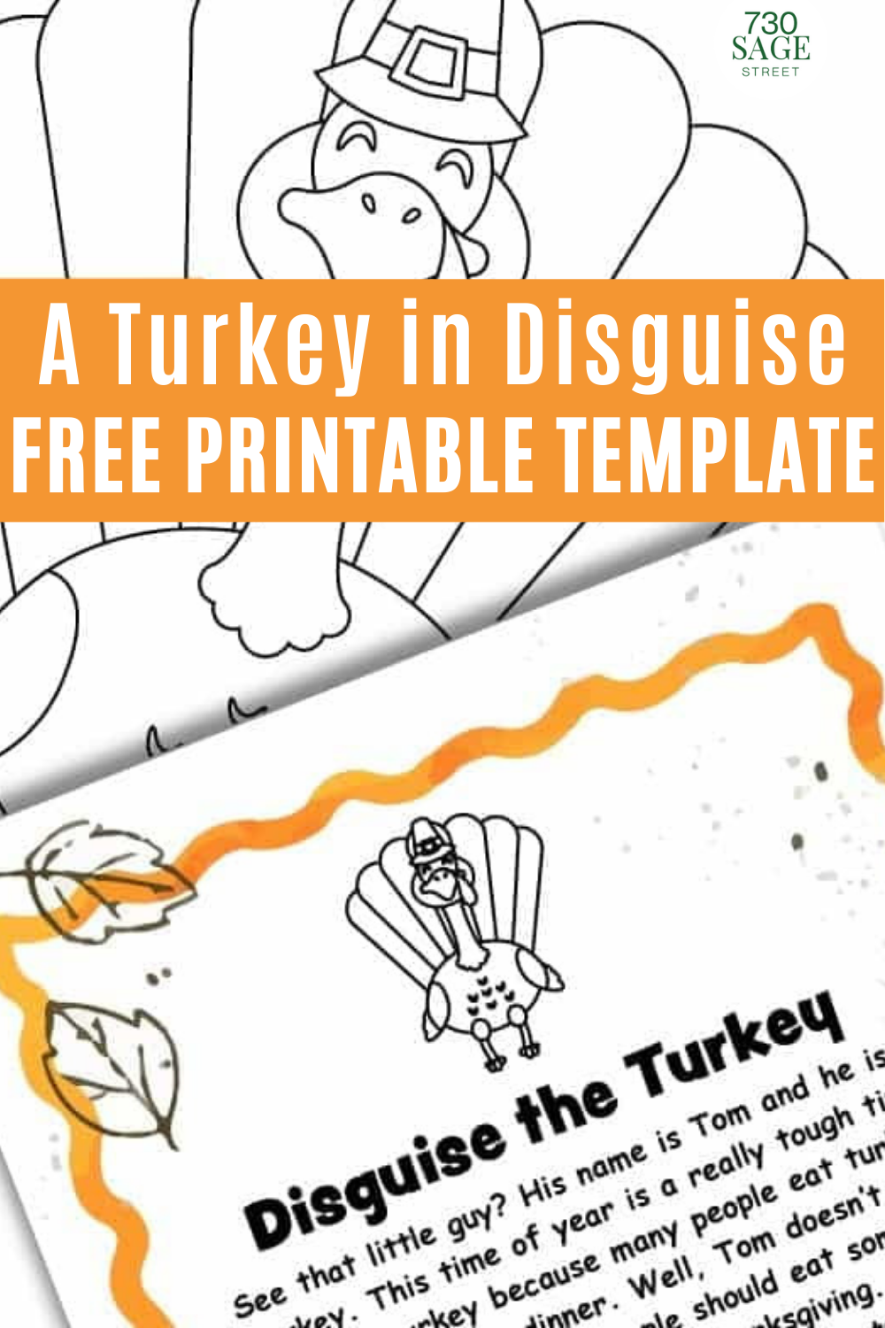 A Turkey in Disguise Project Free Printable Template -   18 disguise a turkey project printable template ideas
