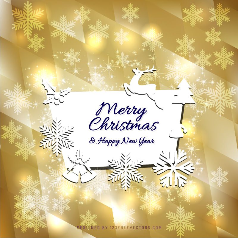 Merry Christmas and Happy New Year Card Background Graphics - https ...