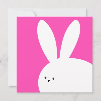 Happy Easter Cute White Bunny Rabbit Card Zazzle Com In 2021 Easter Cards Handmade Easter Gift Card Holder Happy Easter Card