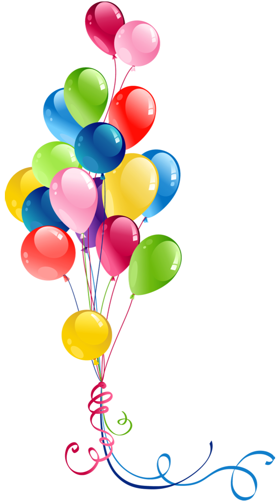 Balloons transparent. Bunch clipart pretty things