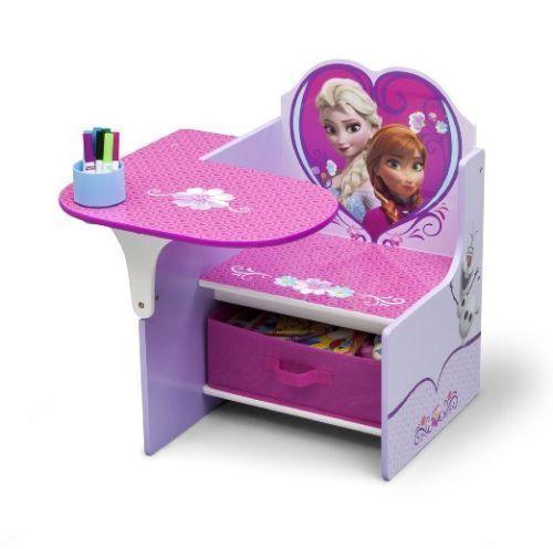 Kids Chair Desk Children Table Toddler Study Play Storage Bin Disney Frozen Girl Toddler Desk Kids Desk Chair Toddler Desk And Chair