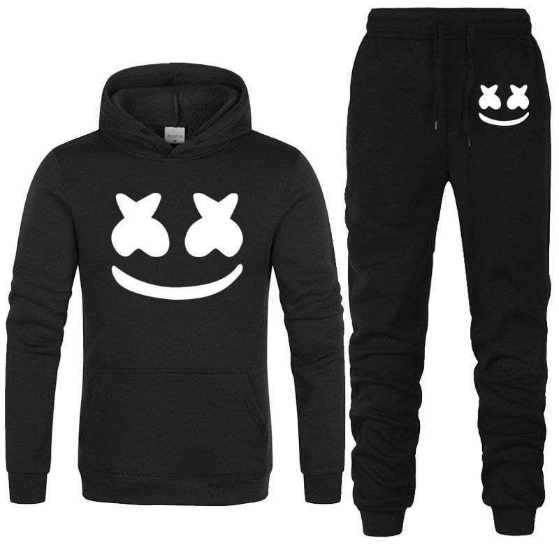 b8525acb New Brand Fashion marshmello face Men Sportswear Print Men Hoodies+pants Pullover  Hip Hop Mens tracksuit Sweatshirts Clothing