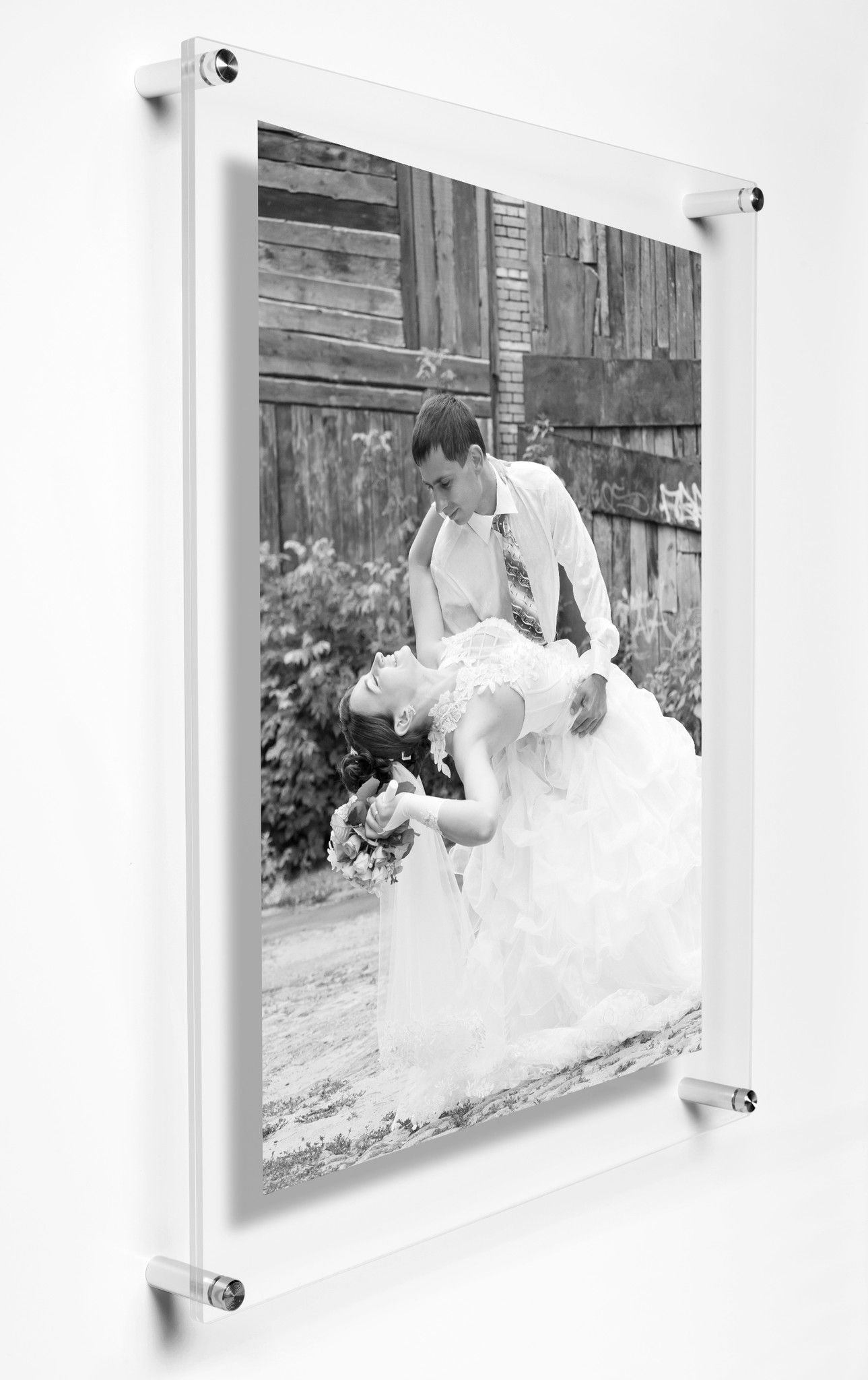 Large Enough For 18 X 24 Posters And Prints This Floating Acrylic Frame Lets You Change Your Display Again A Single Light Weight