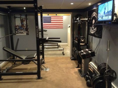 rogue equipped garage gyms  photo gallery with images