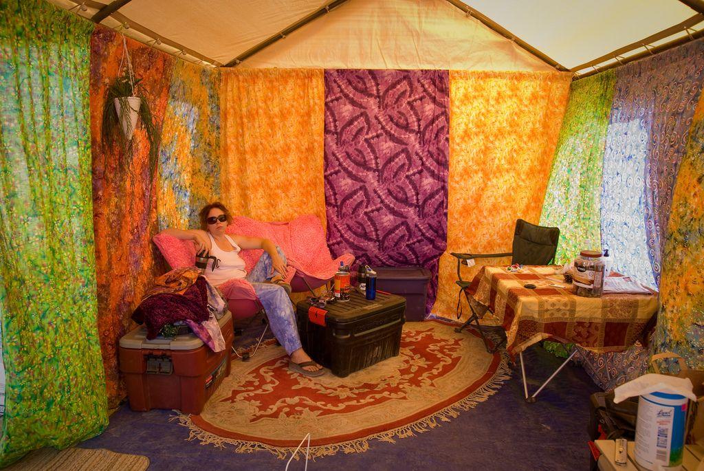 BM 2007 Festival camping setup, Coachella camping