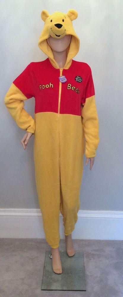 3a16aa191e1a Adult WOMENS PRIMARK All in One Onesie Pyjama DISNEY WINNIE THE POOH Costume